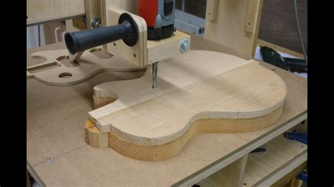 electric guitar body    router part youtube