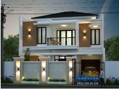 desain rumah minimalis  lantai  lahan   desain