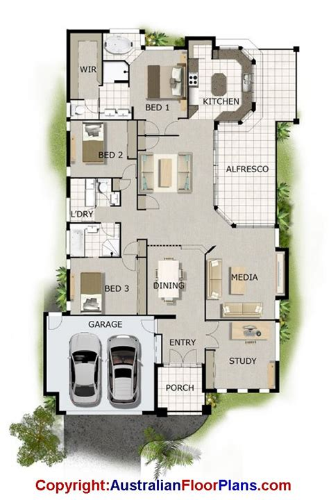villa floor plans australia australian floor plans take the study and turn the media room into a 4th bedroom home