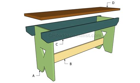 easy bench design simple bench plans howtospecialist how to build step