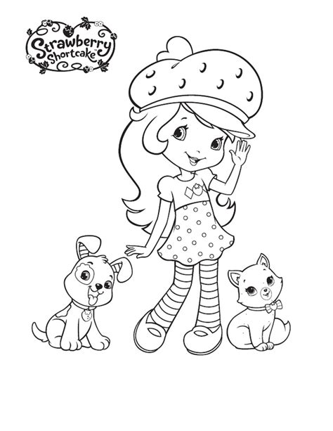 Coloring Page Strawberry Shortcake free printable strawberry shortcake coloring pages for