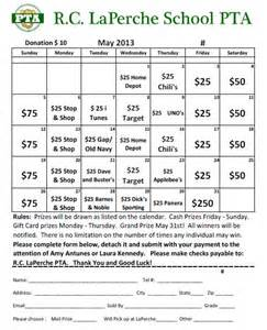 Calendar Raffle Template by May Calendar Raffle Purchase Tickets Today