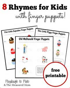 Five Little Monkeys Jumping On The Bed Lyrics 8 Rhymes For Kids With Finger Puppets The Measured Mom