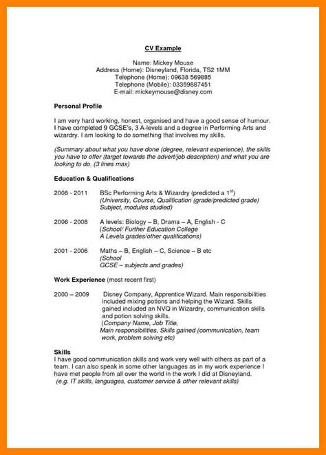 Profile Exles Resume by Exles Of Personal Profile Statements Resume Format