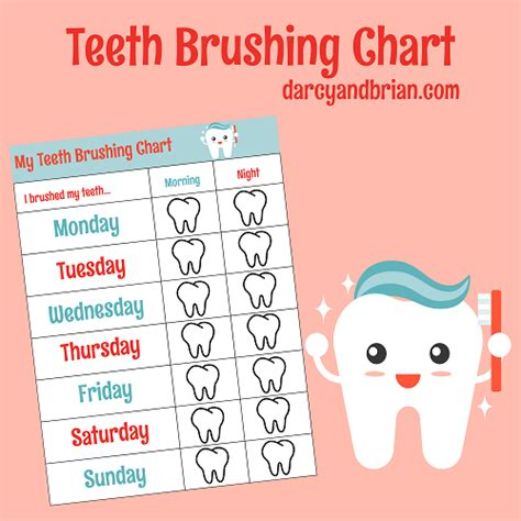 printable tooth brushing reward chart how to brush your teeth for children with free chart
