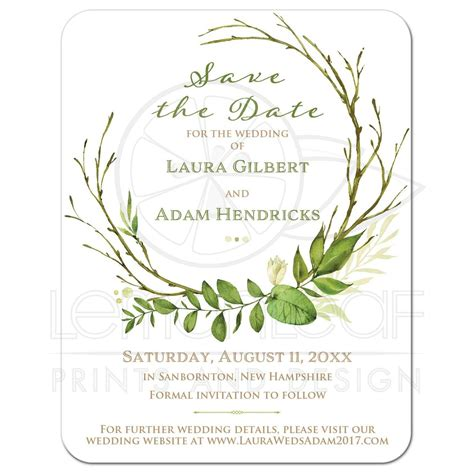 Wedding Invitations Greenery by Greenery Foliage Wedding Save The Date Card Watercolor