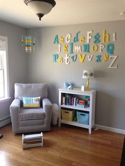 grey walls color accents the 25 best alphabet wall ideas on pinterest playroom