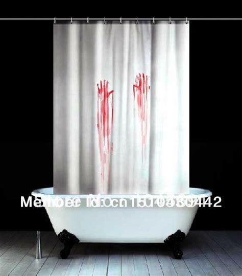 horror movie shower curtain free shipping blood bath style waterproof shower curtain