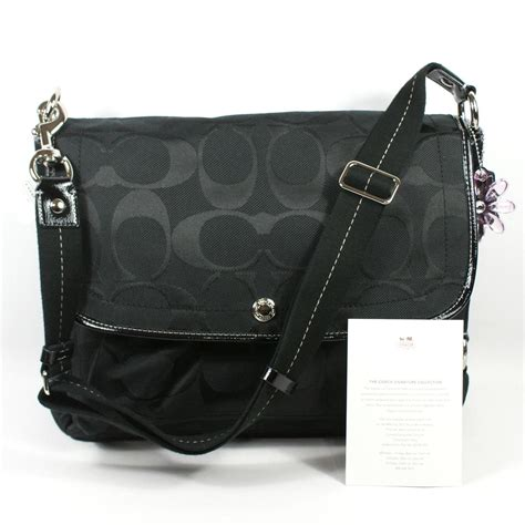 Coach Messenger Laptop Bag 1 coach signature messenger bag laptop bag black 16553 coach 16553