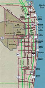 west palm florida map of city in fl