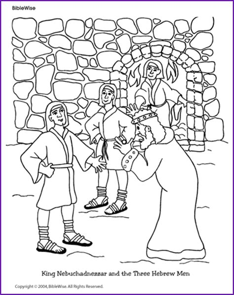 Daniel 3 Coloring Page by Free King Nebuchadnezzar Coloring Pages