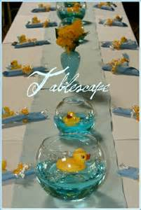 baby shower center pieces grils rubber duck