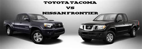 toyota tacoma vs nissan frontier limbaugh toyota reviews