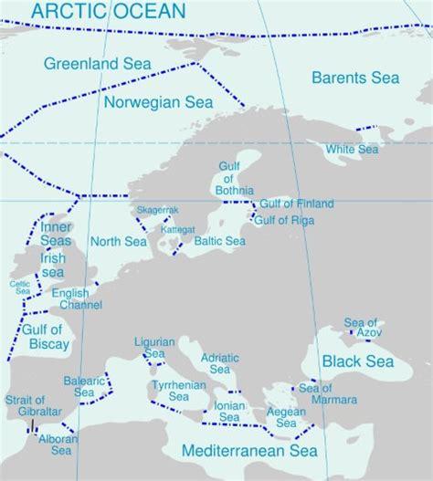 map of europe seas marginal seas of the world bay gulf strait isthmus