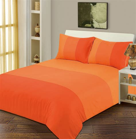 Bright Orange Bedding Set Orange Bright Colour Duvet Cover Microfiber Bedding Set