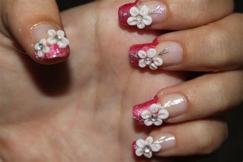imagenes de uñas acrilicas con flores 3d mis dise 241 os en u 241 as acrilicas 3d