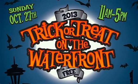 get your kids to the waterfront for early trick or