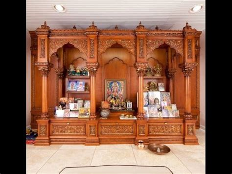 wooden pooja room designs puja mandir designs