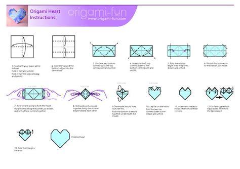 printable 3d origami instructions 3d origami heart folding instructions askervani com
