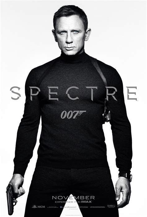 spectre film james bond dons a turtleneck in first poster for spectre