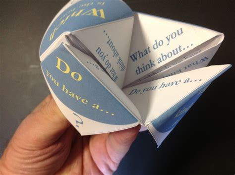 Origami Decision Maker - paper fortune tellers social skills for children
