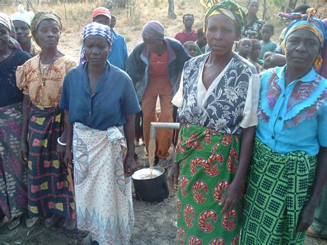 african chitenge ladies of the village sporting their chitenges