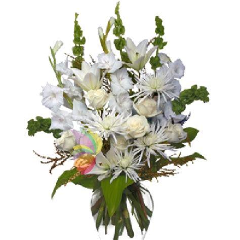 mazzo di fiori bianchi fascio funebre bianco myfloraweb it