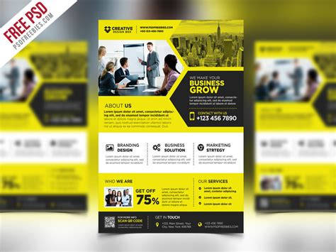 product flyer template marketing templates free psd eps and cool