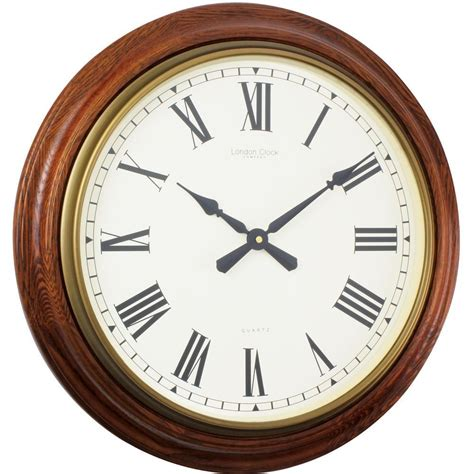 traditional wall clock traditional oak wall clock 55cm