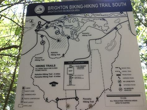 brighton trail map brighton recreation area howell all you need to