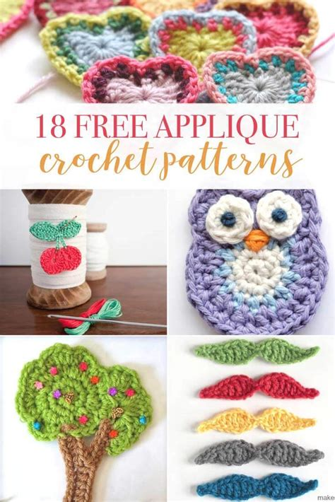 patterns for applique 18 crochet applique patterns cottage designs