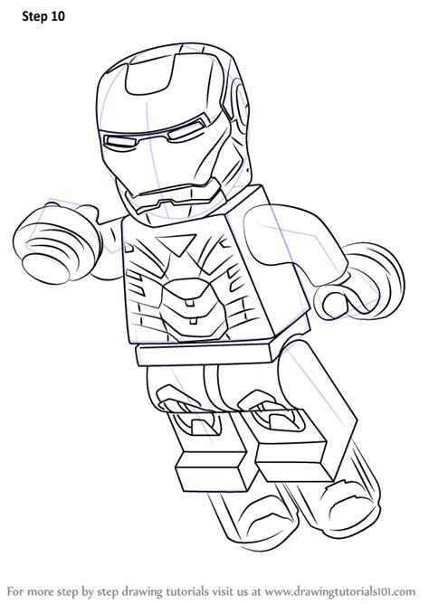 tutorial for lego marvel superheroes step by step how to draw lego iron man