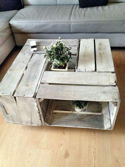 cassette di legno tavolini realizzati con cassette di legno 20 idee