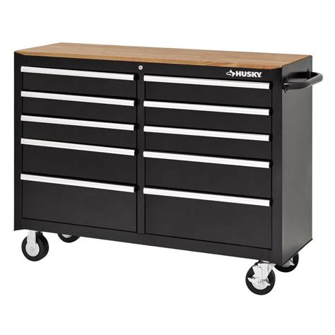 Husky 52 In 10 Drawer Clear View Mobile Workbench With by Husky 52 In 10 Drawer Solid Front Mobile Tool Chest