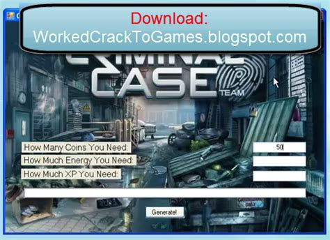 download game criminal case mod unlimited criminal case hack update 2013 crack and hack to