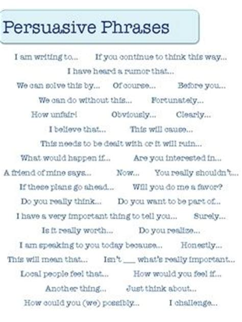 Convincing Words To Use In A Persuasive Essay by 25 Best Ideas About Persuasive Words On Persuasive Writing Phrases And Sentences
