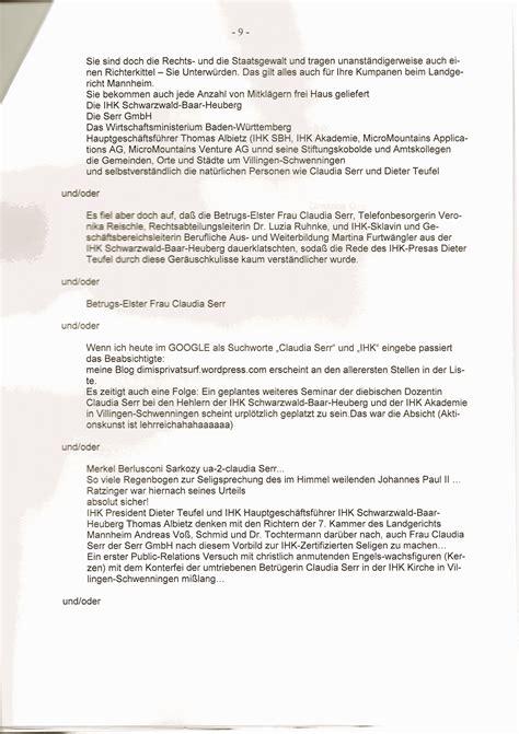 Anwalt K Ndigen Brief Beweise Gegen Mich Vor Gericht Die Vor Verhandlungen Gel 246 Scht Wurden Klageschrift Erster