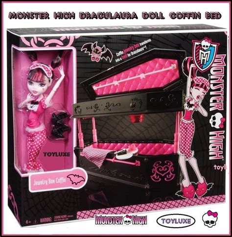 Monster High Draculaura Doll Jewelry Box Coffin Bed High Doll Bed Set