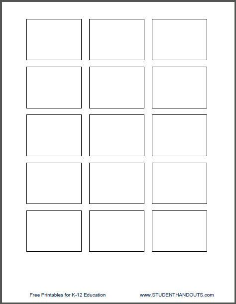 Templates For Printing Directly Onto 1 5 Quot X 2 Quot Post It Notes Student Handouts Print On Post It Notes Template