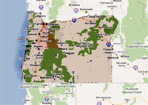 map of oregon 1 5 ufos lights in the sky witnesses report ufos