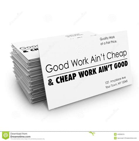 Buy A Cheap by Work Ain T Cheap Business Cards Quality Service Stock