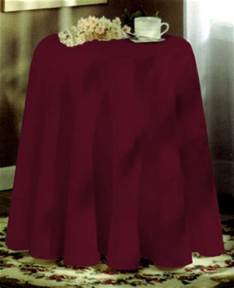 Concord 70in Round Tablecloth   Burgundy: BedBathHome.Com