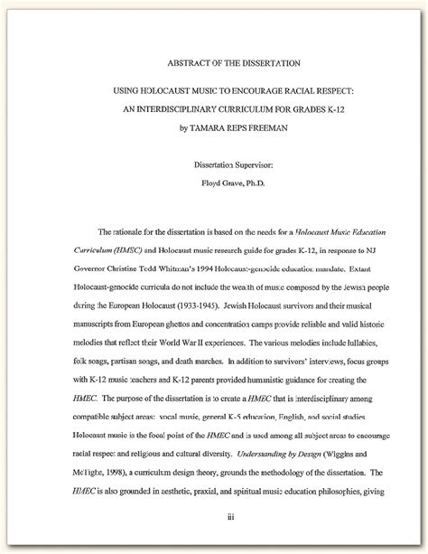 thesis abstract about curriculum development dissertation