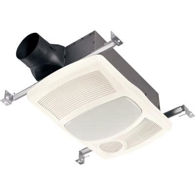 bathroom heater fan light nutone 100 cfm ceiling exhaust bath fan with light and heater