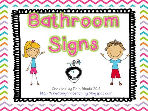 free bathroom signs bathroom signs free creating teaching