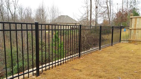 metal fence atlanta metal fences residential and commercial