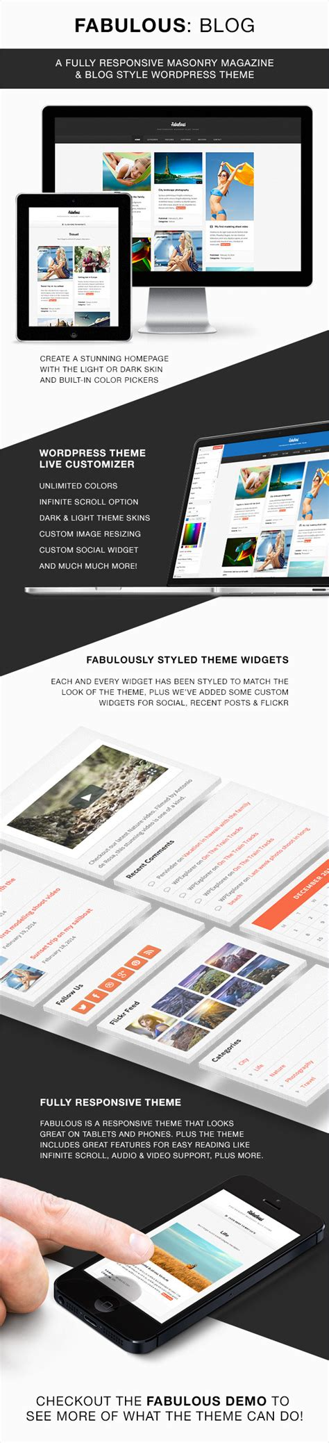 theme wordpress blog themeforest fabulous responsive masonry blog wordpress theme