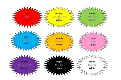 how to say color in colours colors los colores learn free