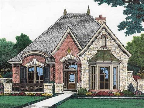 2400 Sq Ft House Plans by Narrow Lot Castle Hwbdo14581 French Country From