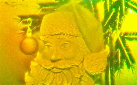 holographic santa claus santa claus sticker holographic studios